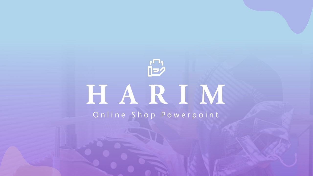 Free Online Shop PowerPoint Template