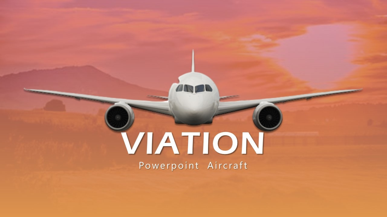 Free Viation Business PowerPoint Template