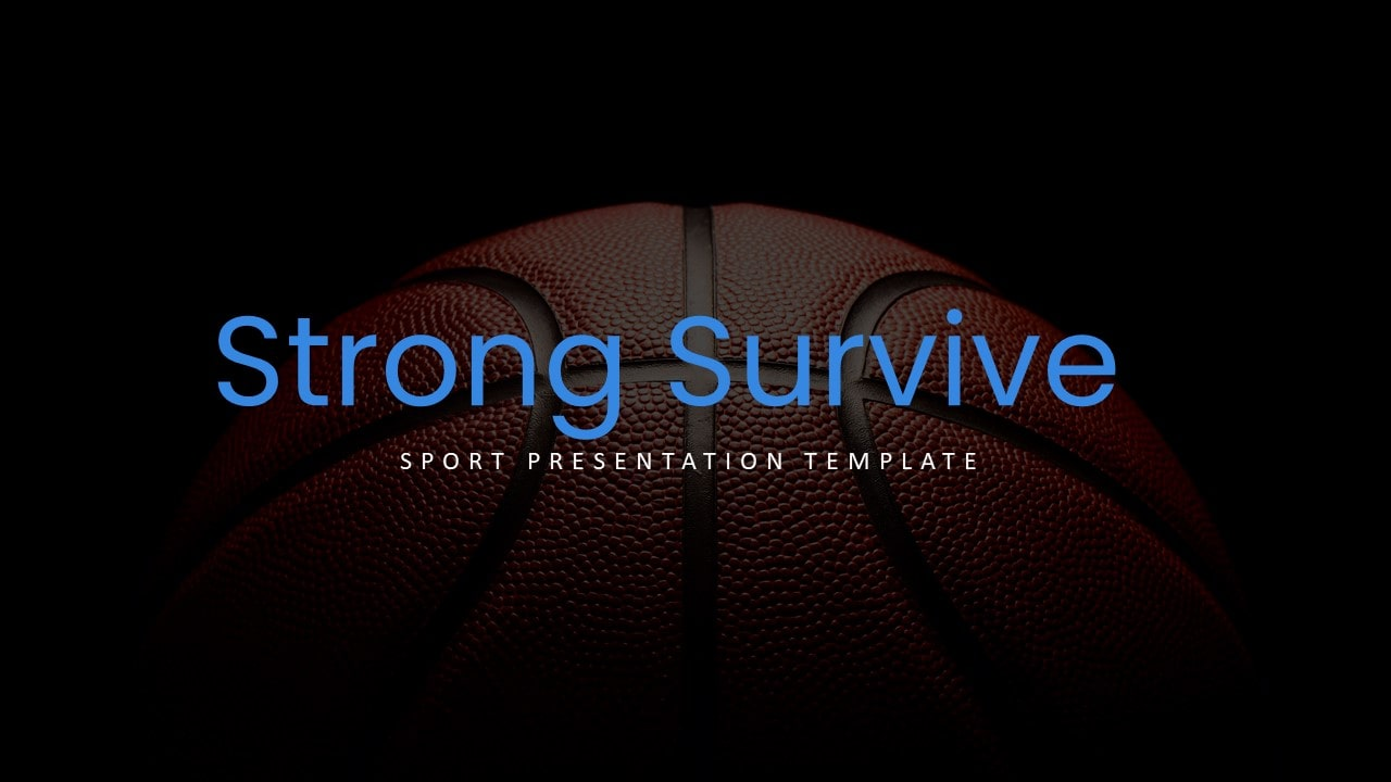 Free Basketball Sports PowerPoint Template