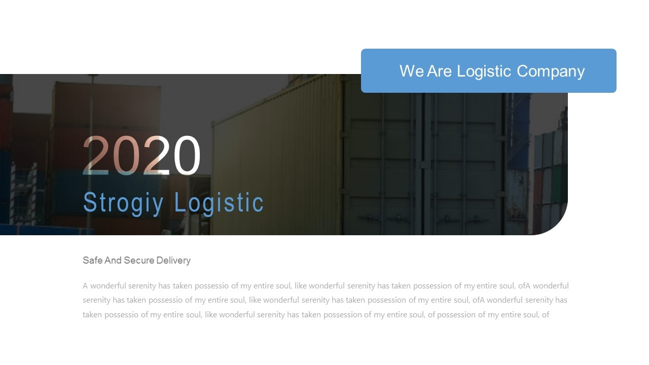 Free Strogiy Logistic PowerPoint Template