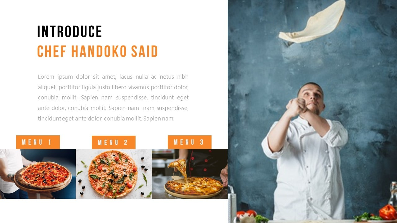 Free Pizzaria Food PowerPoint Template