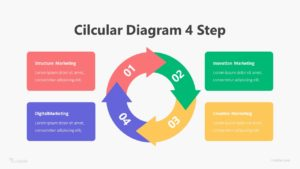 4 Step Circular Diagram Infographic Template