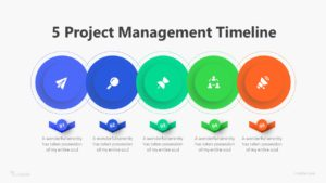 5 Project Management Timeline Infographic Template